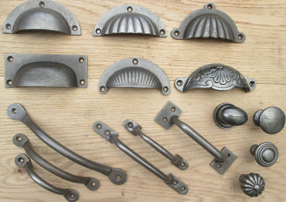CAST IRON CHEST DRAWER WARDROBE KITCHEN CUPBOARD CABINET DOOR HANDLES U0026  KNOBS