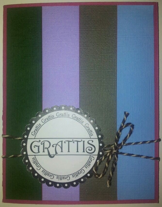 """Birthday card.  Easy and clean.  1"""" strips in different colors - a style I like!"""