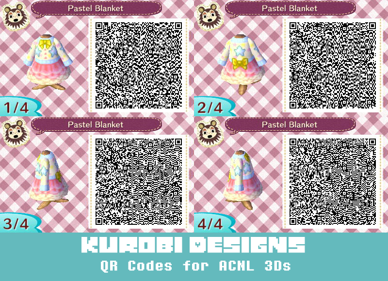 Pastel Blanket Acnl Clothes Animal Crossing Qr Animal Crossing