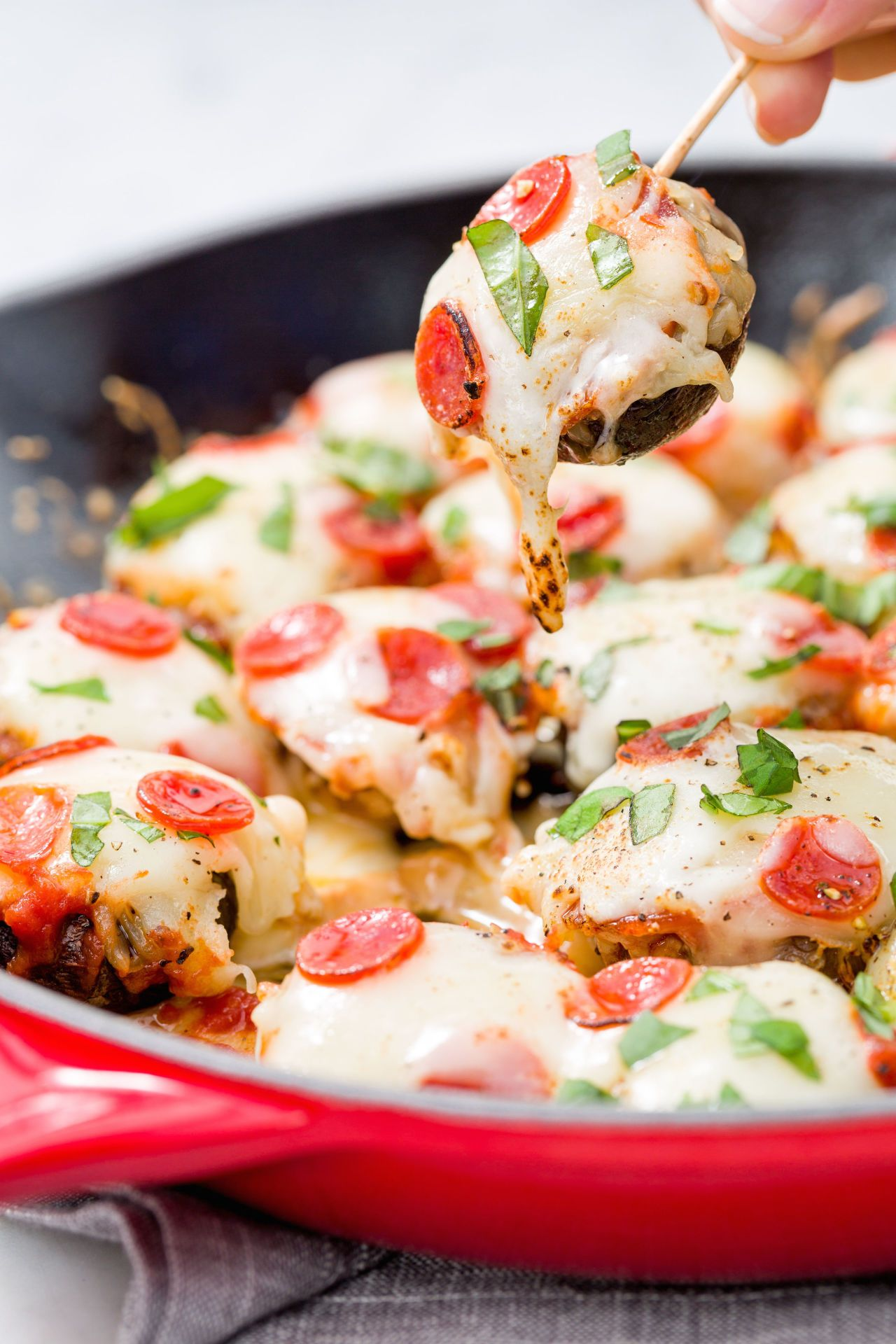 PizzaStuffed Mushrooms Easiest App Ever Appetizer