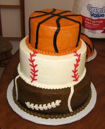 Sports Themed Cakes First Birthday Party Pinterest Sports