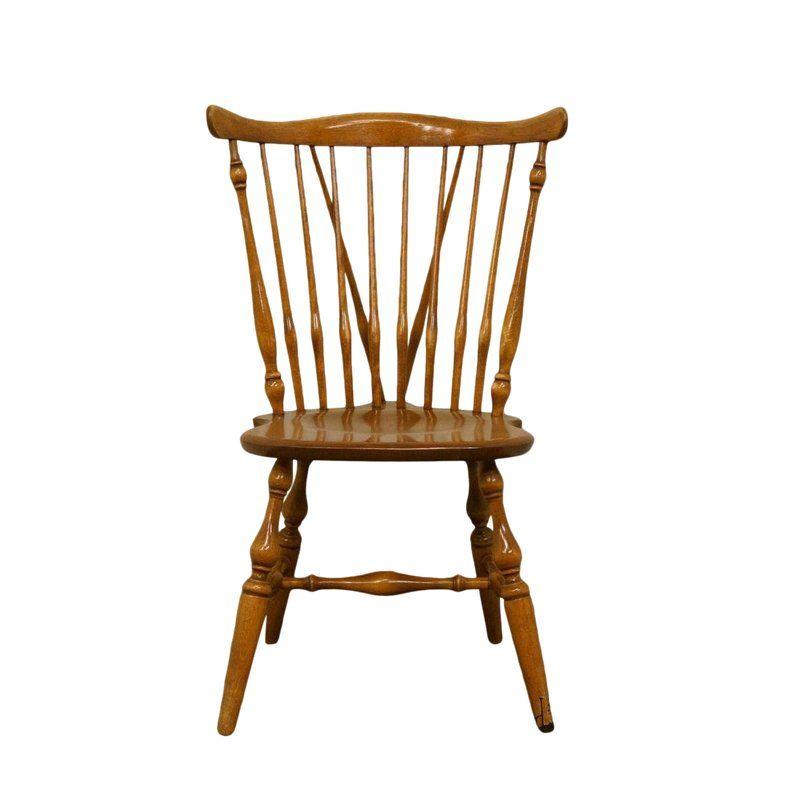 Pleasing Ethan Allen Heirloom Maple Fiddleback Duxbury Side Chair Inzonedesignstudio Interior Chair Design Inzonedesignstudiocom