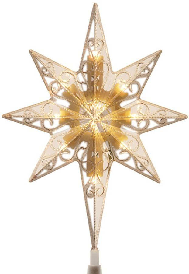National Tree Company 11 In Color Changing Led Star Of Bethlehem Battery Operated Christmas Topper