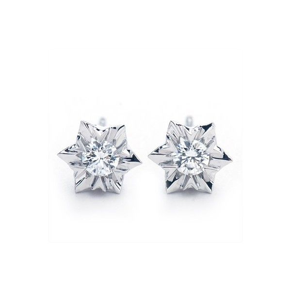 Beautiful 1 Carat Diamond Stud Solitaire Earrings