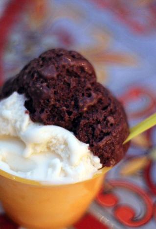 Cream cheese + chocolate gelato. Yum!