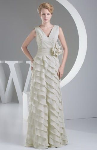 Chiffon Elegant Party Gown - Order Link: http://www.thebridalgowns.com/chiffon-elegant-party-gown-tbg6382 - SILHOUETTE: A-Line; SLEEVE: Sleeveless; LENGTH: Floor Length; FABRIC: Chiffon; EMBELLISHMENTS: Bow , Sash , Ribbon , Tiered - Price: 200.99USD