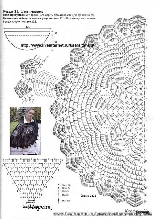 Crochet shawls and capes. Talk to LiveInternet - Russian Service ...