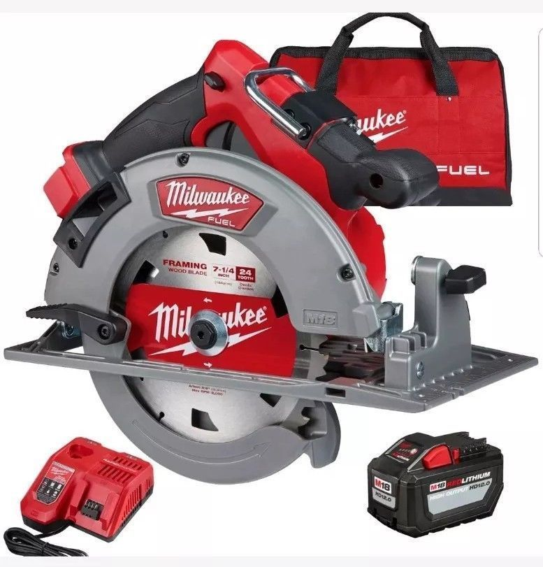Circular Saws 71307 Milwaukee 2732 21hd M18 Fuel 7 1 4 Circular Saw Kit New In Box Buy It Now Only 314 99 O Cordless Circular Saw Saw Tool Milwaukee Fuel