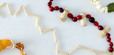 Girlande basteln - 80 Dekoideen für extra weihnachtliche Stimmung