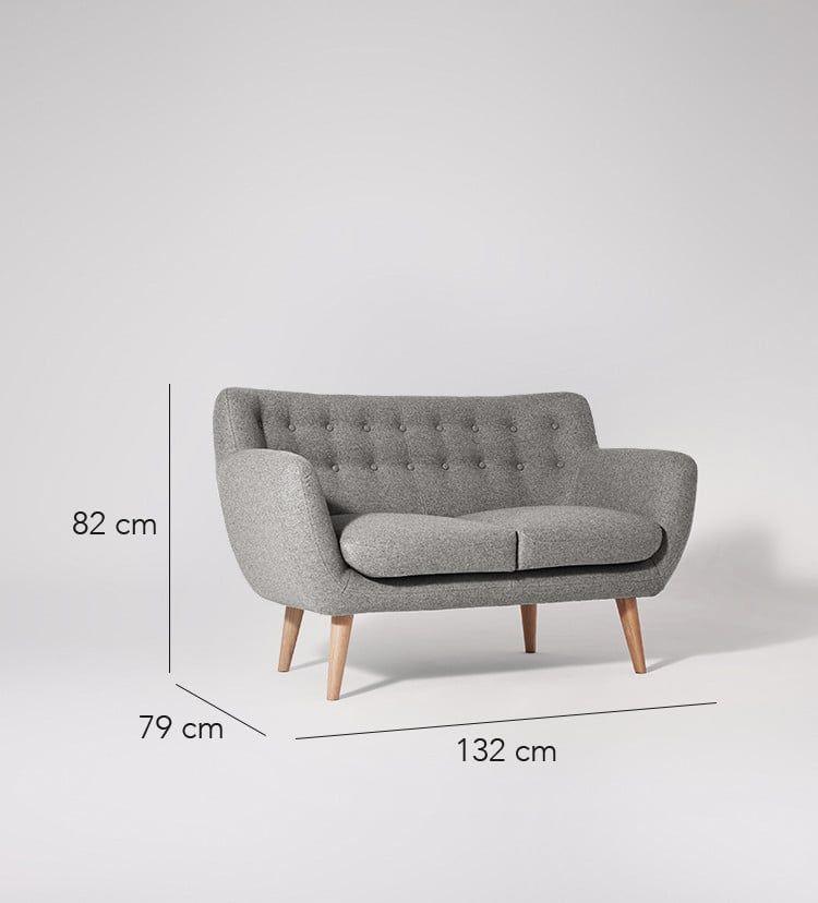 Mimi Two Seater Sofa Swoon Editions Kursi Berlengan Furniture Home Decor