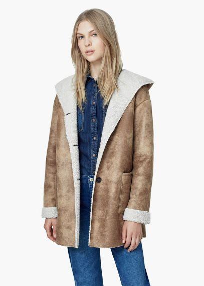 Shearling coat | MANGO
