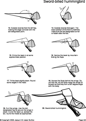Origami Hummingbird Diagram Instructions Allen Bradley Safety Contactor Wiring Diagrams