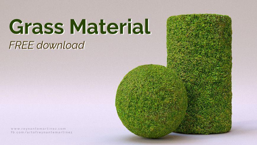 Free Download Grass Material Blender tutorial, Blender