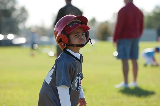 That Game Face I9sports Tball Helping Kids Youth Sports Kids Playing