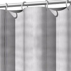 Eco Friendly And Elegantly Beautiful This Ribbed Shower Curtain