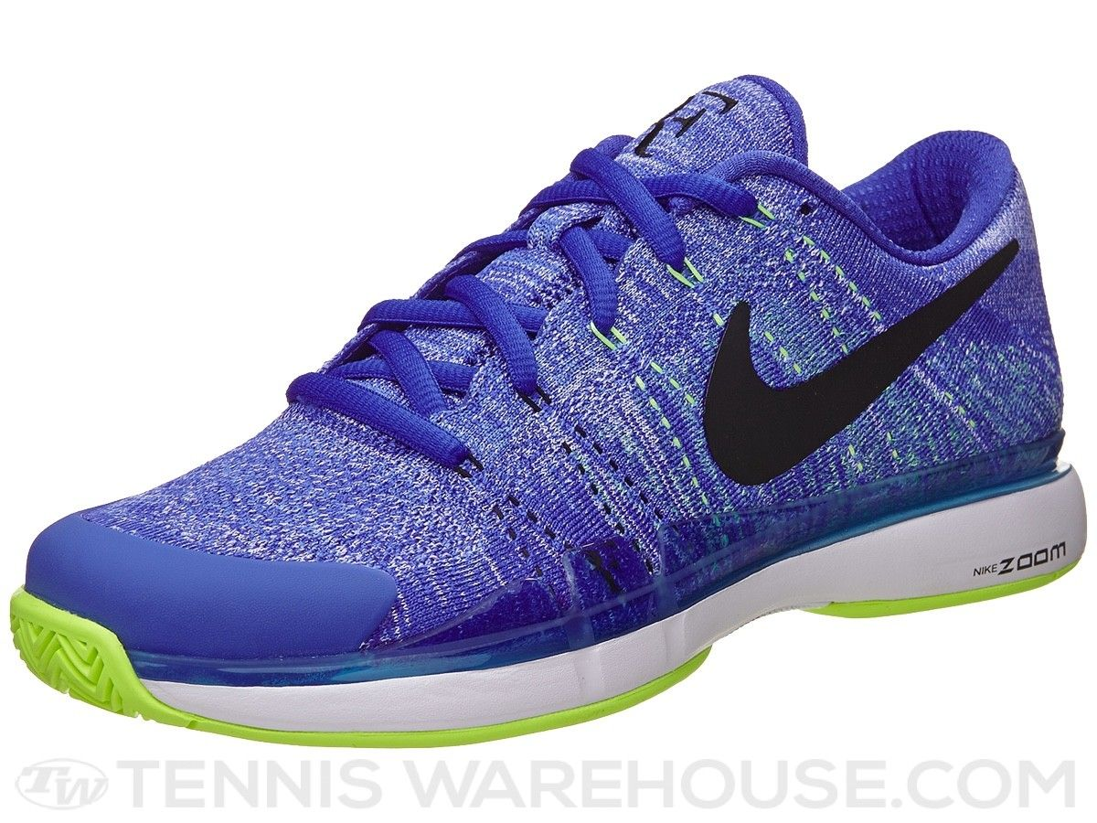 9078ddc2b5def Nike Zoom Vapor 9.5 Flyknit Blue Green Men s Shoe