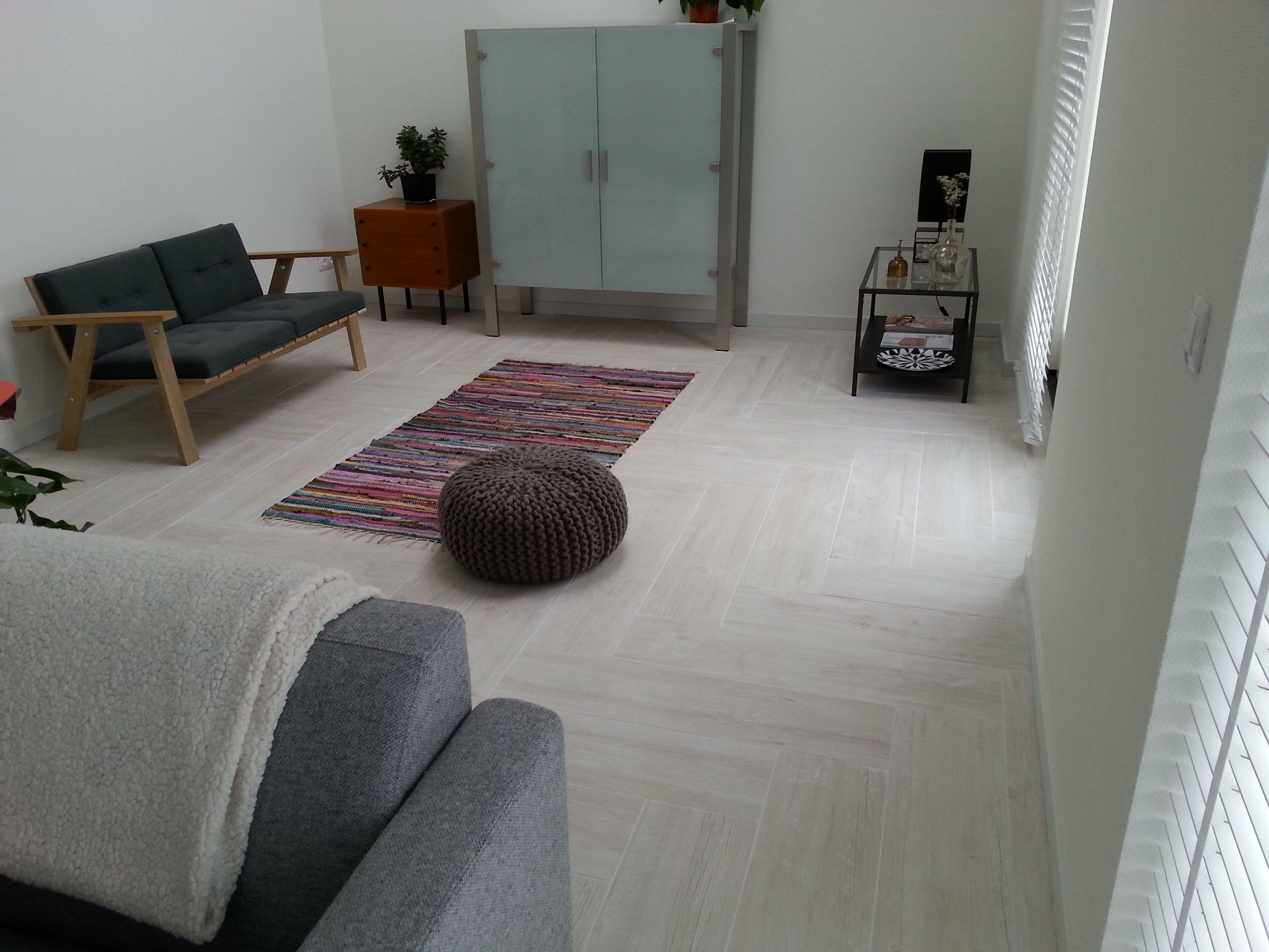 Visgraat houtlook tegels atlas concorde white pine 22.5x90 cm serie