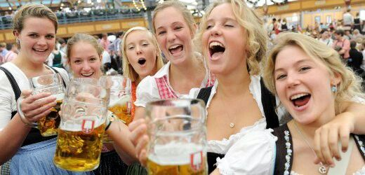 Finally,  these Young German Women at Oktoberfest enjoying themselves.  German Ancestry lays claim to last 20 % of my paternal origins from Northern Germany.
