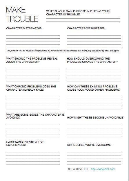 Make Trouble (Writing Worksheet Wednesday) Writing worksheets - resume writing worksheet