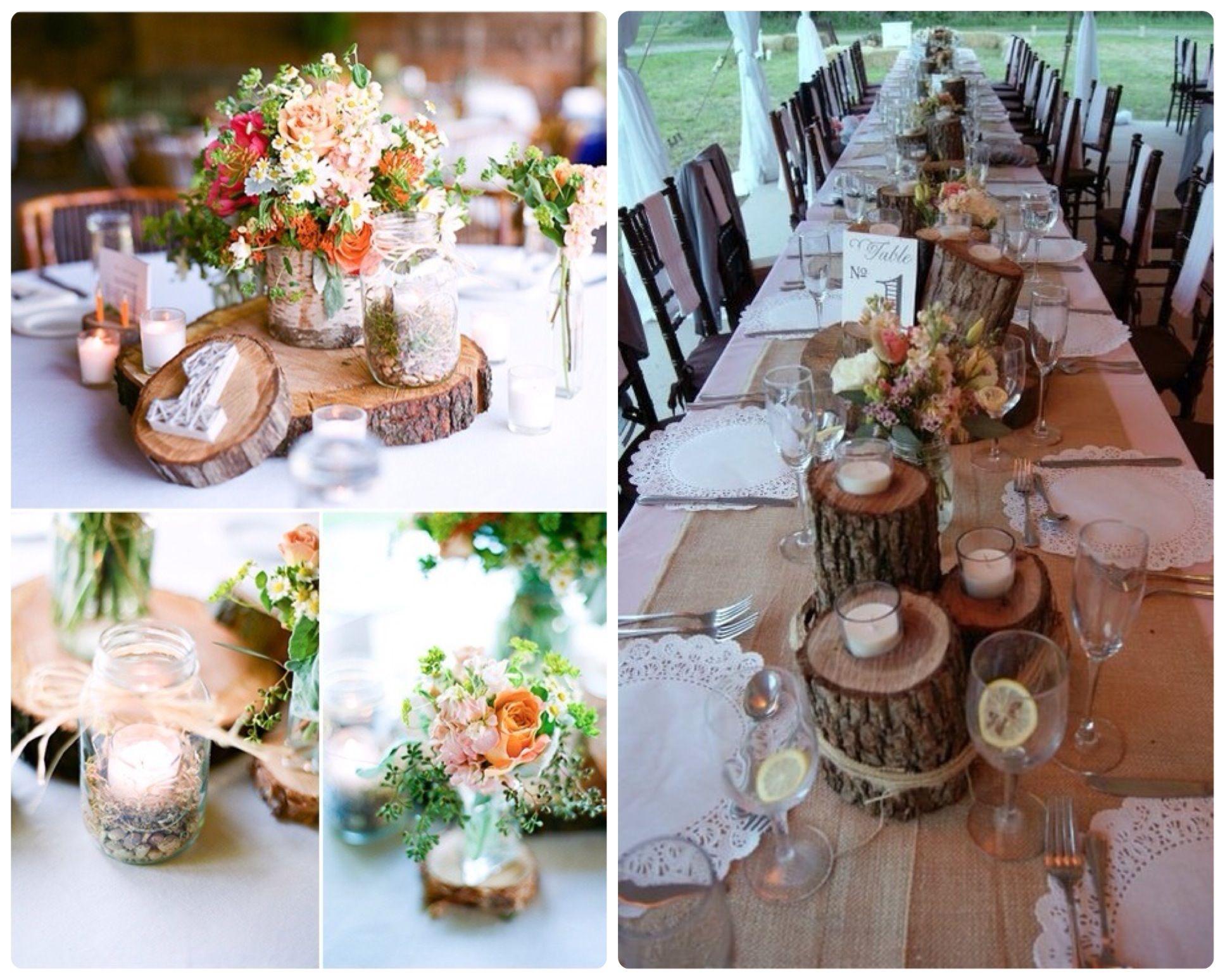 Los mejores centros de mesa r sticos para bodas