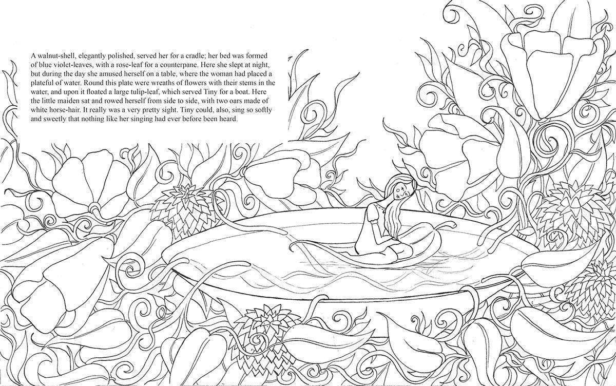 Olivia Linn Sørensen New York, NY, USA Thumbelina - A Children's Book on Behance
