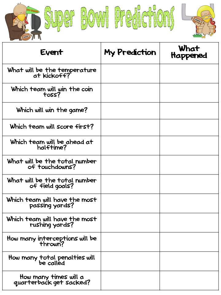 Universal image with regard to super bowl party games printable
