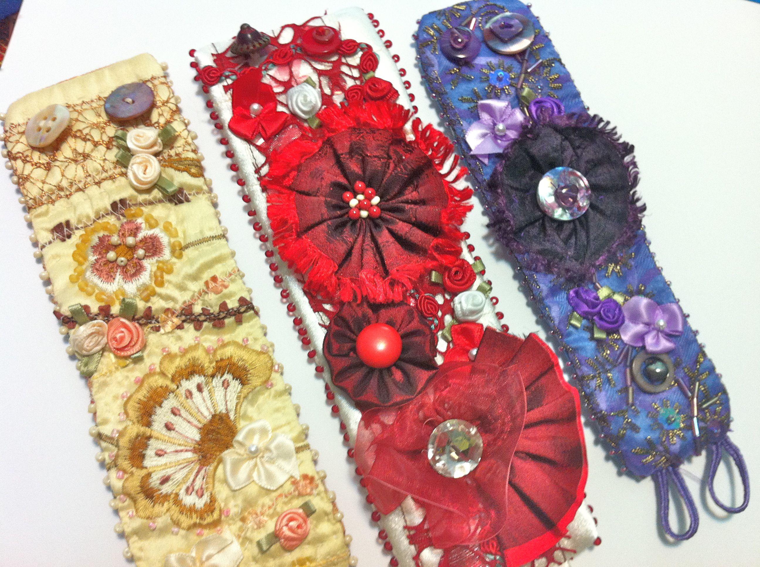 Floral Fabric Bracelet Wrist Warmers Fabric Cuff Bracelet