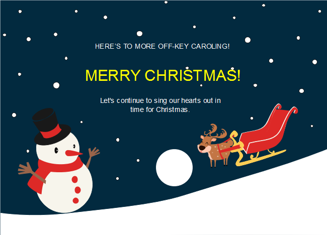 The Elk Snowman Christmas Card Template Is Designed For Christmas Celebration With A Cute Snowman Christmas Cards Christmas Card Template Christmas Cards Free