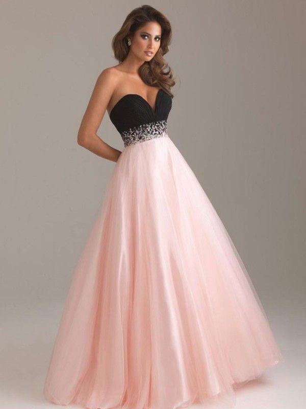 6b34b978e43 Ball Gown Sleeveless Beading Sweetheart Satin Floor-Length Dresses  DressyWell