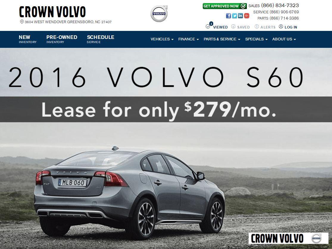 Crown Volvo's website Volvo