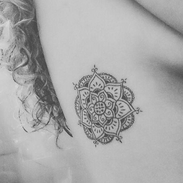 Flor De Lotus Em Forma De Mandala Lindas Tattos Tatuagem