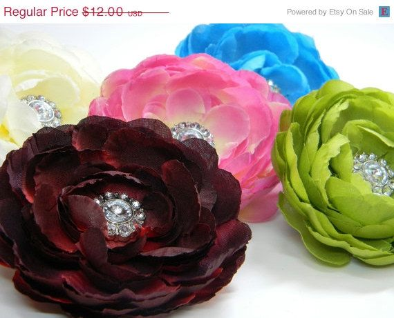 SALE Dog Collar Flower Ruffled Ranunculus Pink by AccessoriesByLG, $10.20
