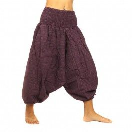 Breve Harem mezcla los pantalones de algodón - púrpura