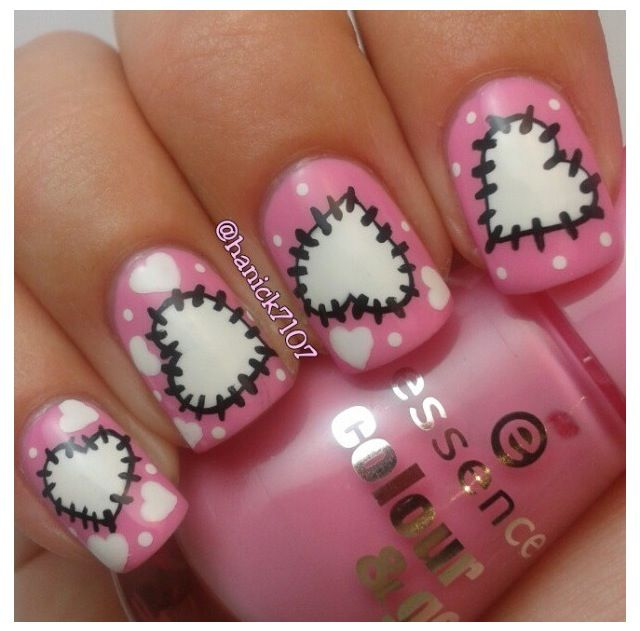 Nail art... Hearts | Nails | Pinterest | Short acrylics, Toe nail ...