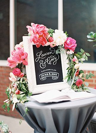 Ideas & Advice | Book flowers, Guest book table and Greenery