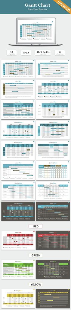 gantt chart powerpoint template | template and project management, Powerpoint templates