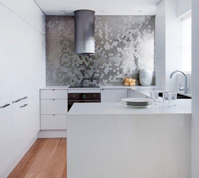 Stunning Backsplash In Kitchen   Karim Rashid For ALLOY Ubiquity Tile In  Brushed Stainless Steel [Design: ALLOY Solid Metal Tiles]