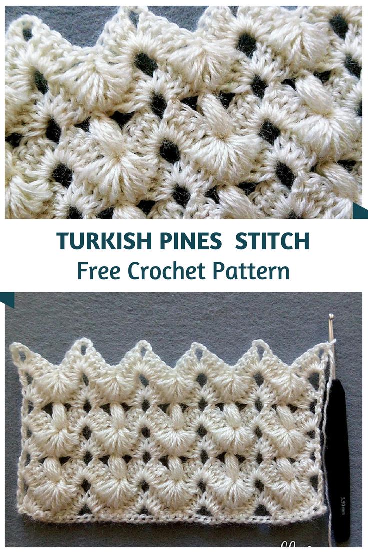 Incredibly Beautiful Turkish Pines Crochet Stitch Häkeln