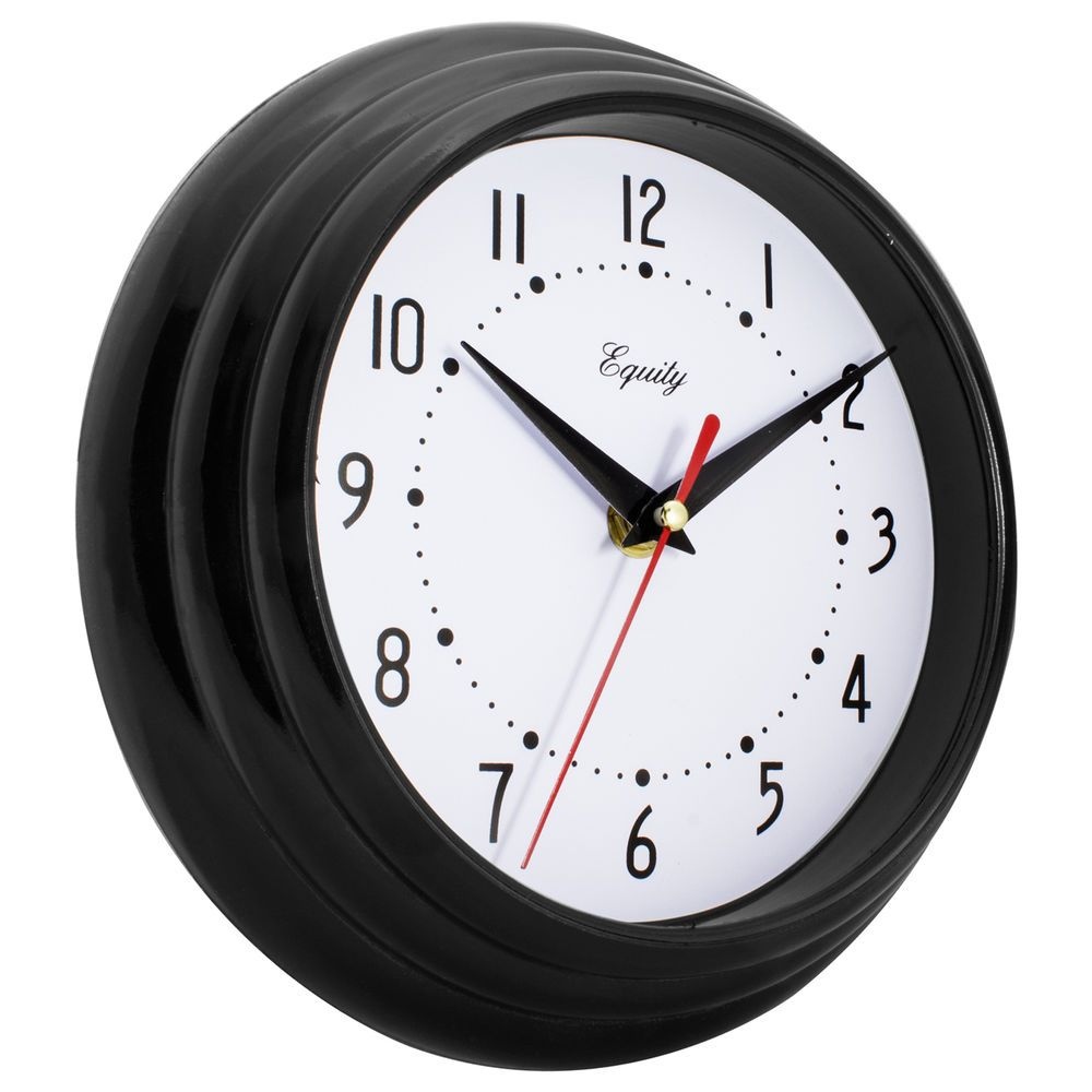 Modern Wall Clock Decor Round Contemporary Kitchen Office Bedroom Business Black Generic Wall Clock Modern Black Wall Clock Wall Clock