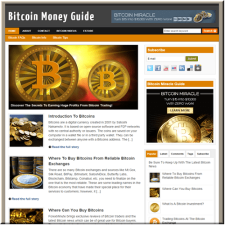 Make a website for cryptocurrency