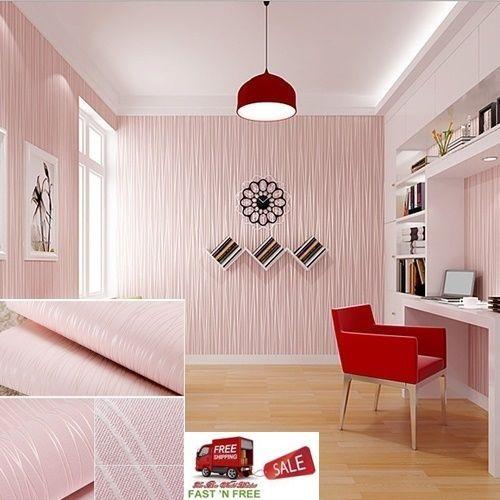 3d Wallpaper Living Room Tv Background Pink Embossing Modern