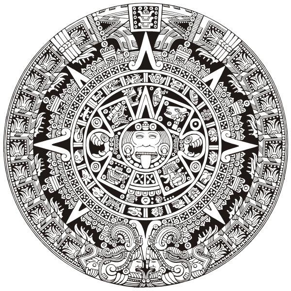 Pin By Luis Martinez On Just Me Aztec Calendar Aztec Art Mayan Symbols