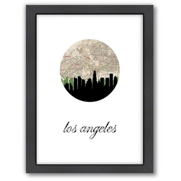 Americanflat PaperFinch Los Angeles Framed Wall Art ($66) ❤ liked on Polyvore featuring home, home decor, wall art, multicolor, skyline wall art, map wall art, vertical wall art, colorful wall art and los angeles wall art