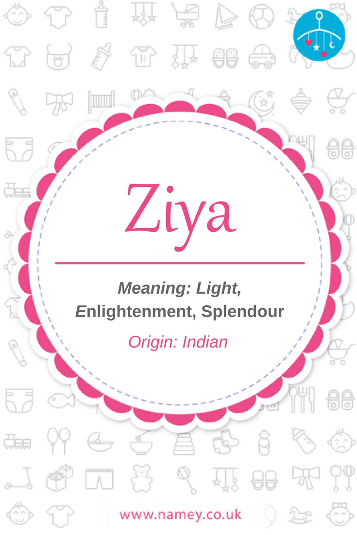 Ziya is a beautiful baby girls' name of Indian origin that means 'light', 'enlightenment and 'splendor''. Find more baby name inspiration with the Namey app www.namey.co.uk