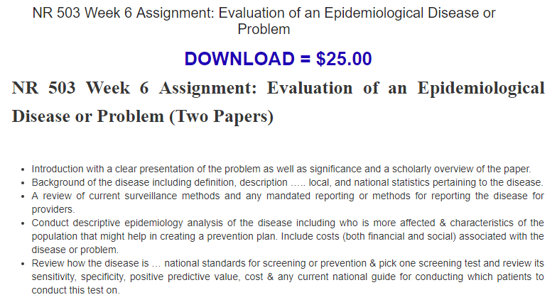 assignment evaluation