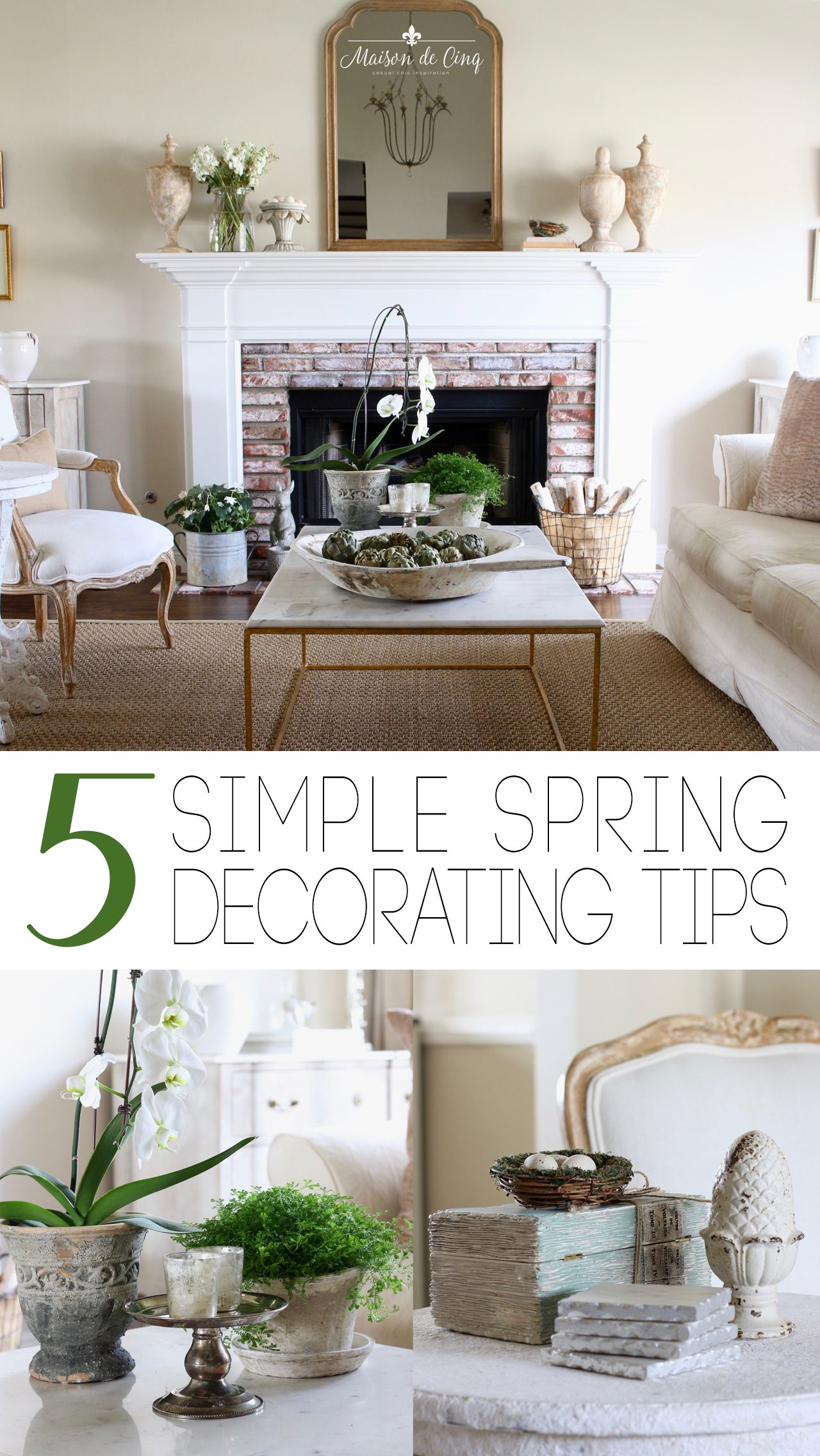 Simple Spring Decor In The Living Room Spring Living Room Farmhouse Decor Living Room Farm House Living Room