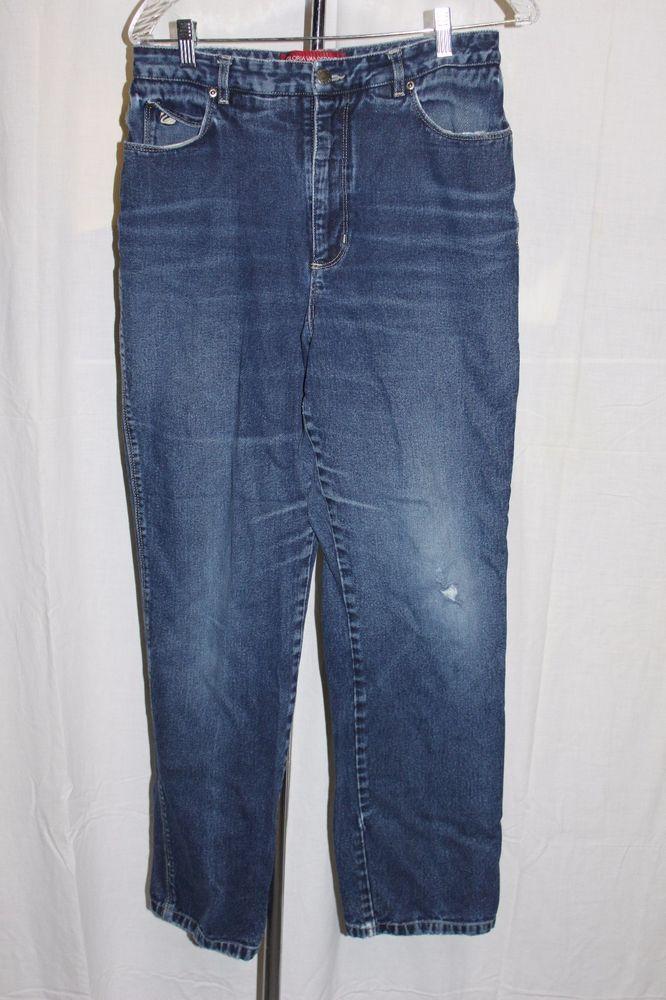 Details About Gloria Vanderbilt Womens Dark Blue Jeans