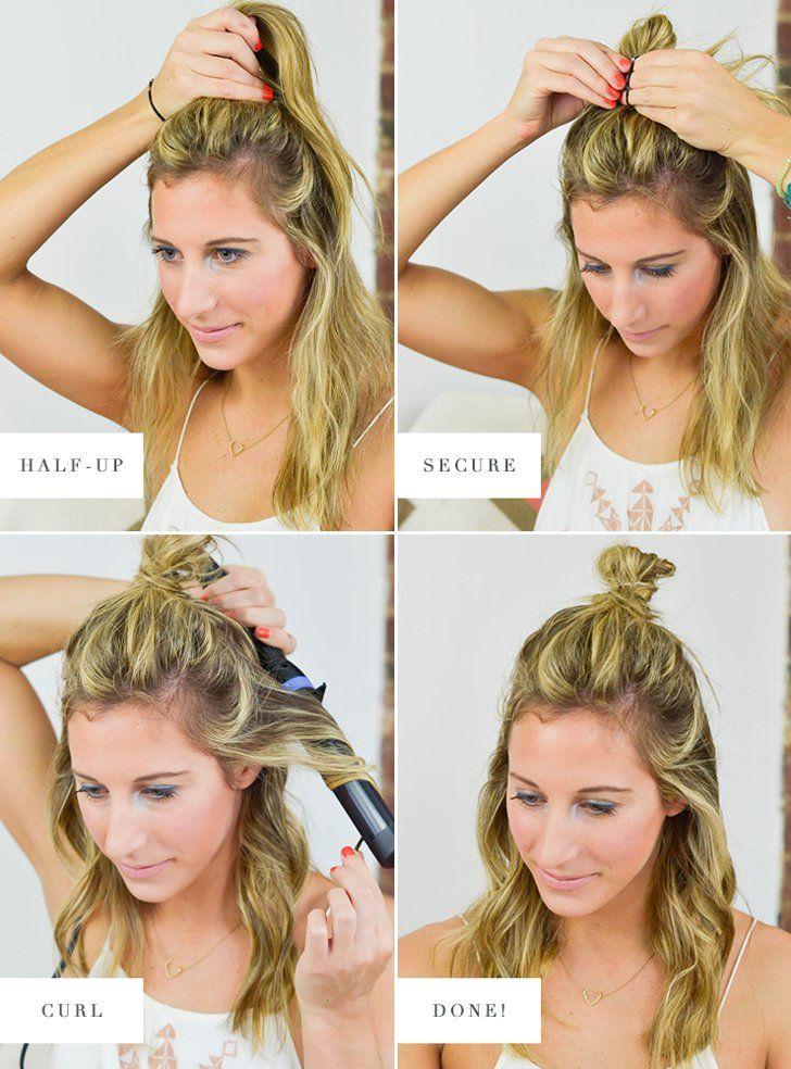 Option 3 The Half Up Top Knot Beauty Secrets Pinterest Hair