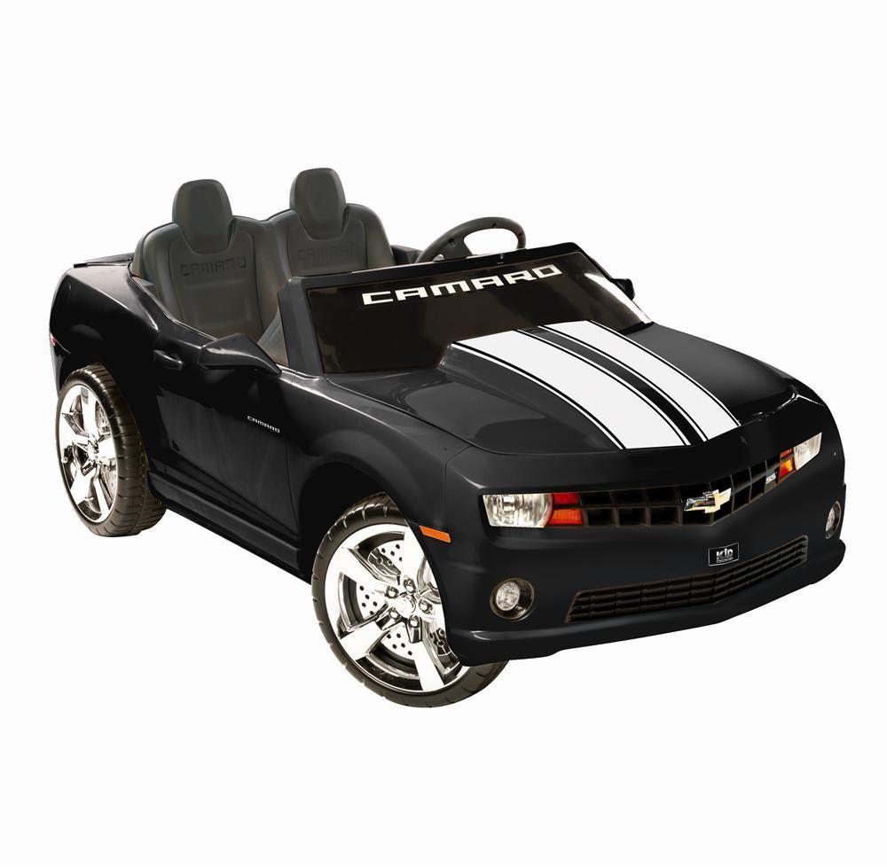 chevrolet racing camaro 12v mini car kids ride on toy black