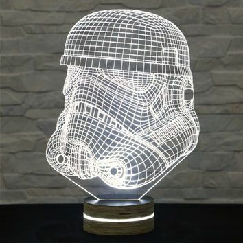 Stormtrooper Shape Star Wars 3d Led Lamp Kid S Room Decor Amazing Effect Nursery Light Plexiglass Lamp Decorative Lamp Acry 3d Led Lamp Lamp Decor Lamp